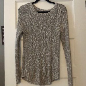 MOSSIMO Grey Cable Knit Sweater